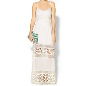 Anthropologie Crochet Lace Maxi Dress, S/M